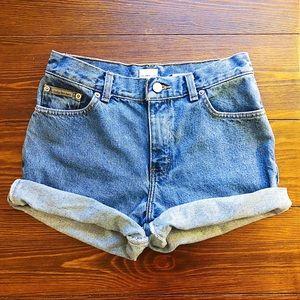 Vintage Calvin Klein jean shorts high rise size 2
